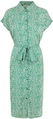Pcnya ss shirt dress Verdant Green/Dots