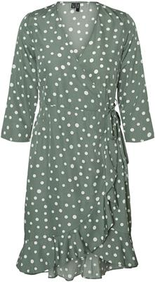 Vmhenna 3/4 wrap dress laurel wreath/white dots
