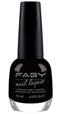 Faby nagellak - Black Is Black
