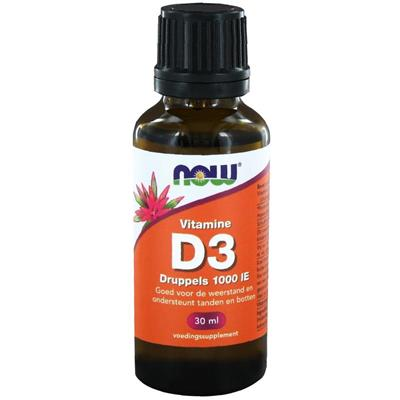 Vitamine D3 druppels 1000IE (NOW) | 30ml