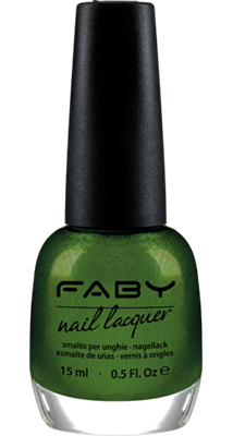 Faby nail lacquer - Glittering Chlorofyll