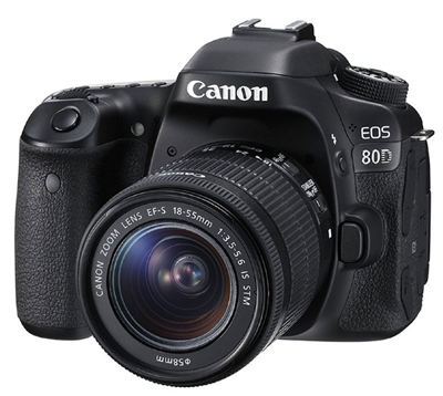 Canon EOS 80D + EF-S 18-55mm IS STM camera zwart