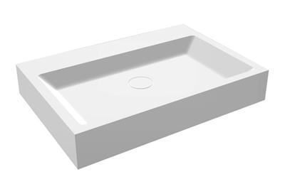 Wastafel 60 Cm : Lafôr wastafel solid surface 60 x 42 cm