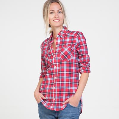 Claire Red Plaid