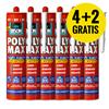 Super Deal - 6 xBISON PolyMax High Tack WIT 425 gr. (4+2 gratis)
