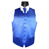 Uni satijnen 6 knoops vest royal blue