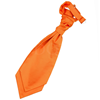 6-Delig antraciet grijs kostuum / plastron burnt orange