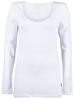 Only Live love long o-neck ls top white