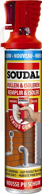 SOUDAL vullen & isoleren genius gun 600 ml.