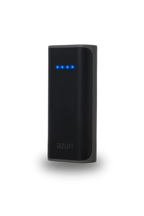 Azuri Power Bank 4000 mAh ¨ zwart + micro-usb kabel    -1x USB