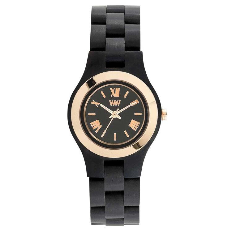 WeWOOD horloge Criss MB Black Rose