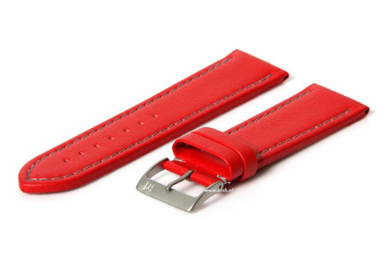 Horlogeband 18mm (waterproof) rood
