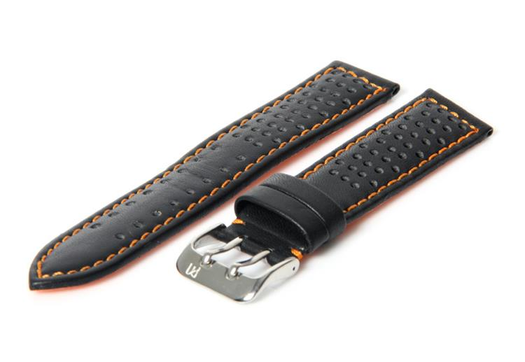Horlogeband 22mm Zwart waterproof