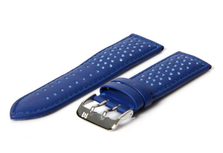 Horlogeband 22mm blauw waterproof