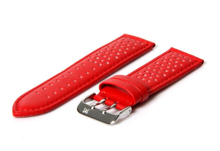 Horlogeband 22mm Rood waterproof
