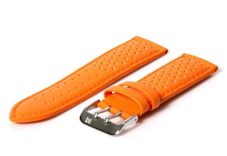Horlogeband 22mm Oranje waterproof