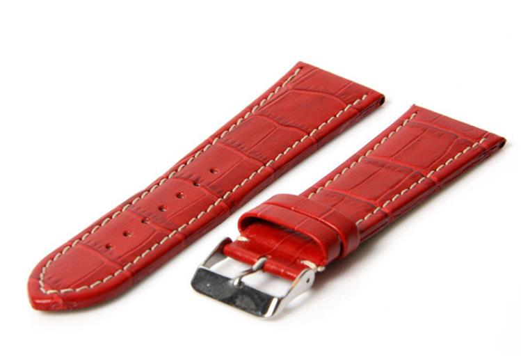 Horlogeband 26mm croco rood