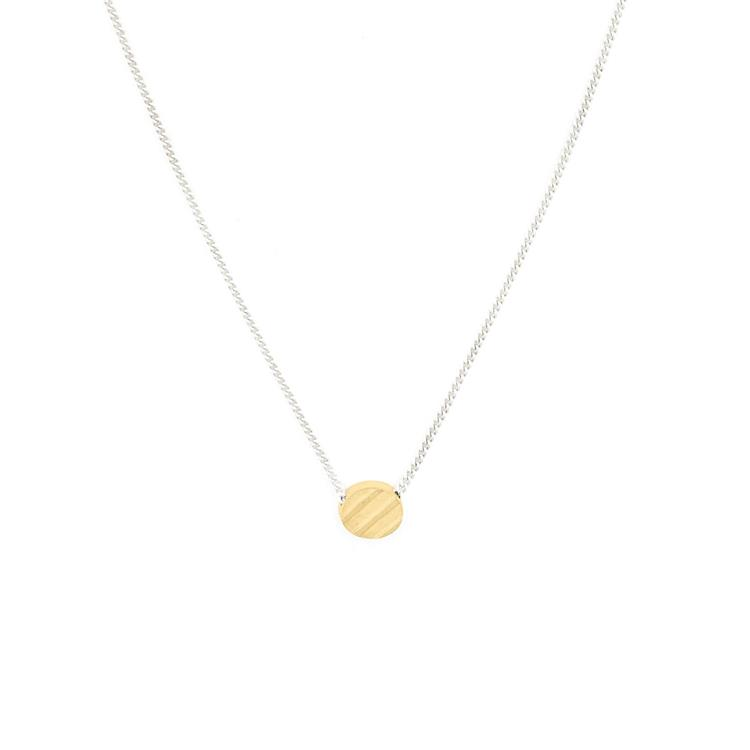 Wouters & Hendrix fine necklace with etched charm