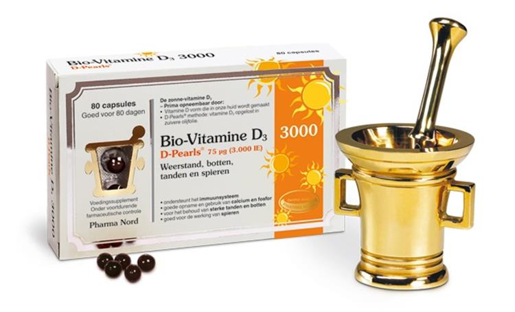 Bio-Vitamine D3 3000IE D pearls