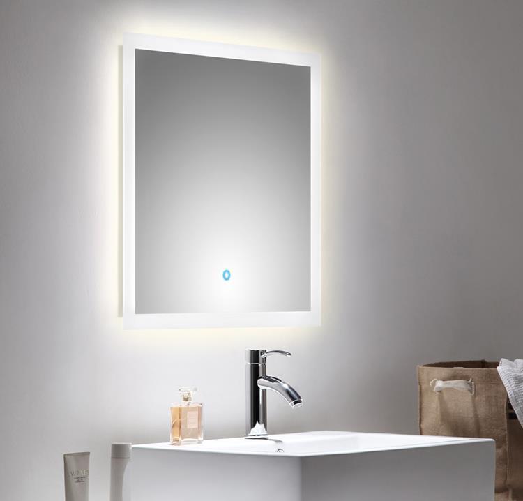 spiegel touch led 60 x 60 cm. Black Bedroom Furniture Sets. Home Design Ideas