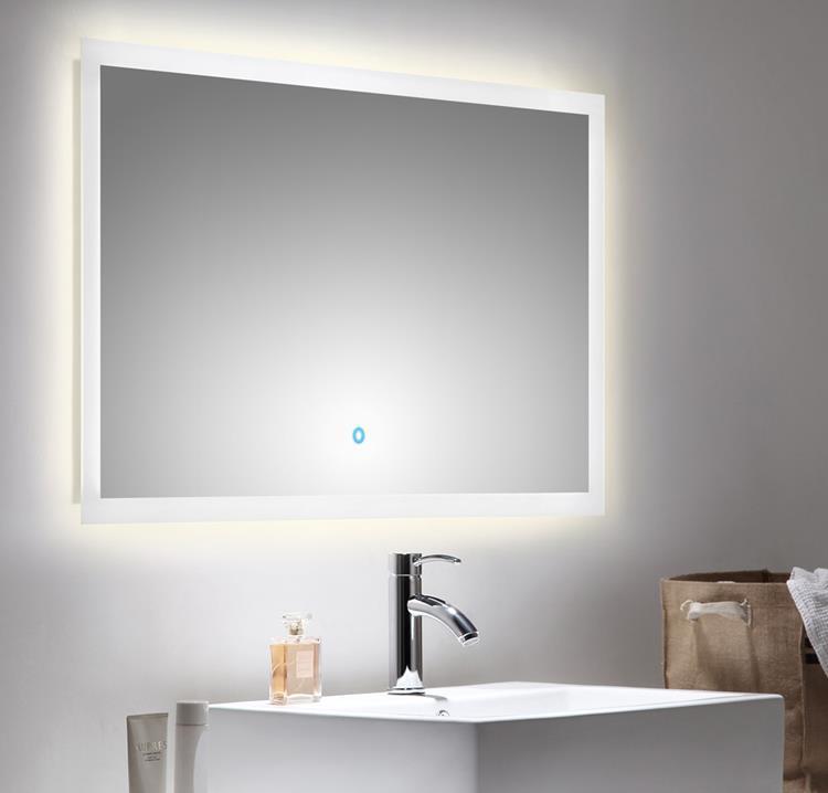 spiegel touch led 100 x 60 cm. Black Bedroom Furniture Sets. Home Design Ideas
