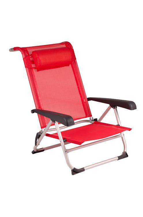 Strandstoel Met Armleuning.Red Mountain Saint Tropez Strandstoel Rood