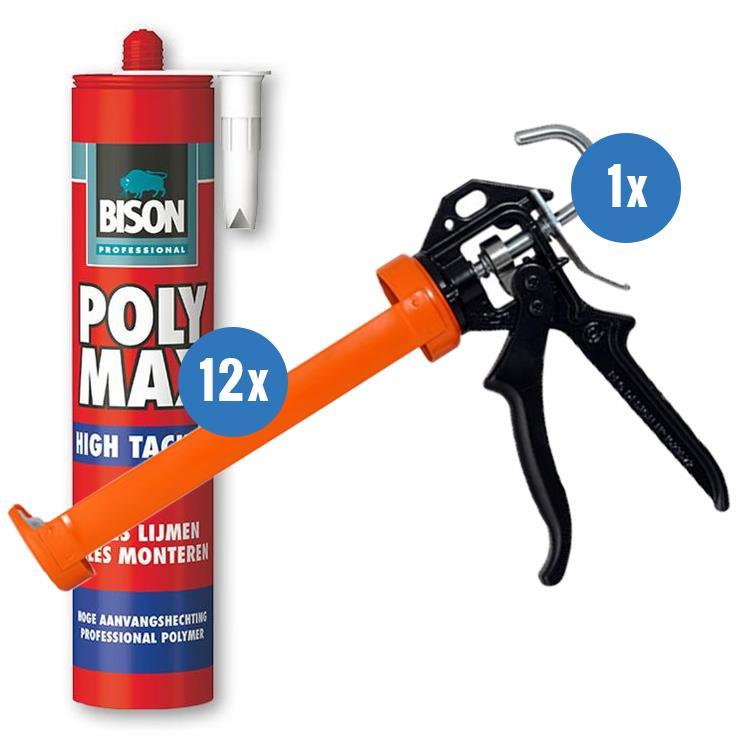 Combi deal BISON PolyMax Hightack + kitpistool pakket