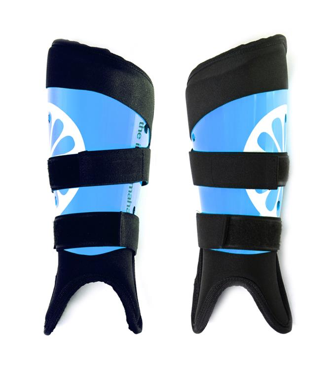 The Indian Maharadja Shinguards washable junior - blue Scheenbeschermers