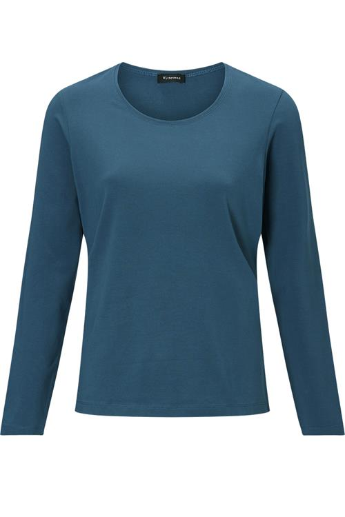 Basis T-Shirt Blauw Petrol