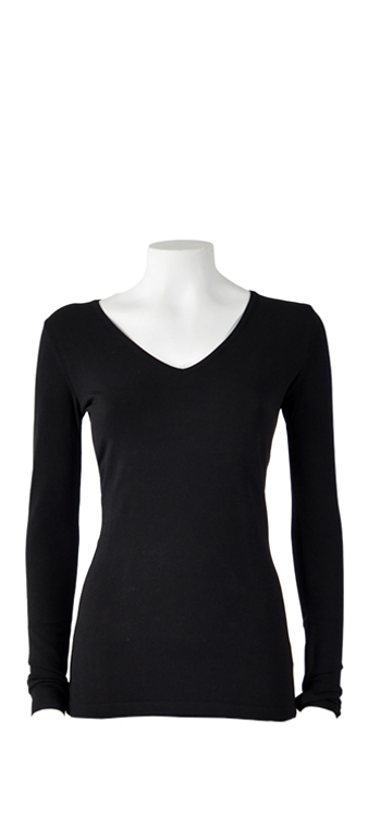 Basicly ByOni Top V-hals - Zwart