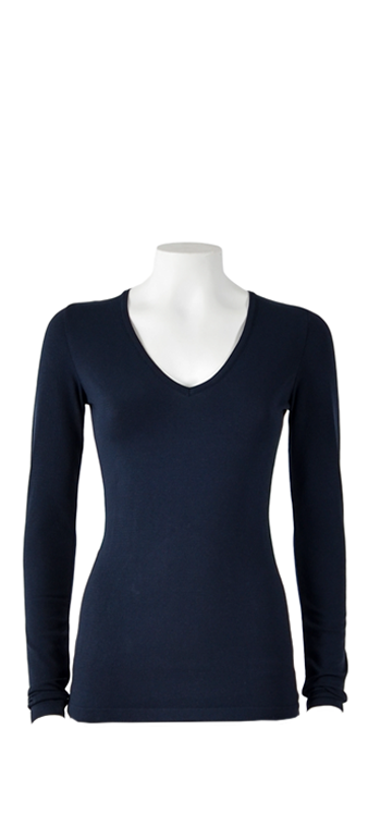 Basicly ByOni - Top V-hals - D. blauw
