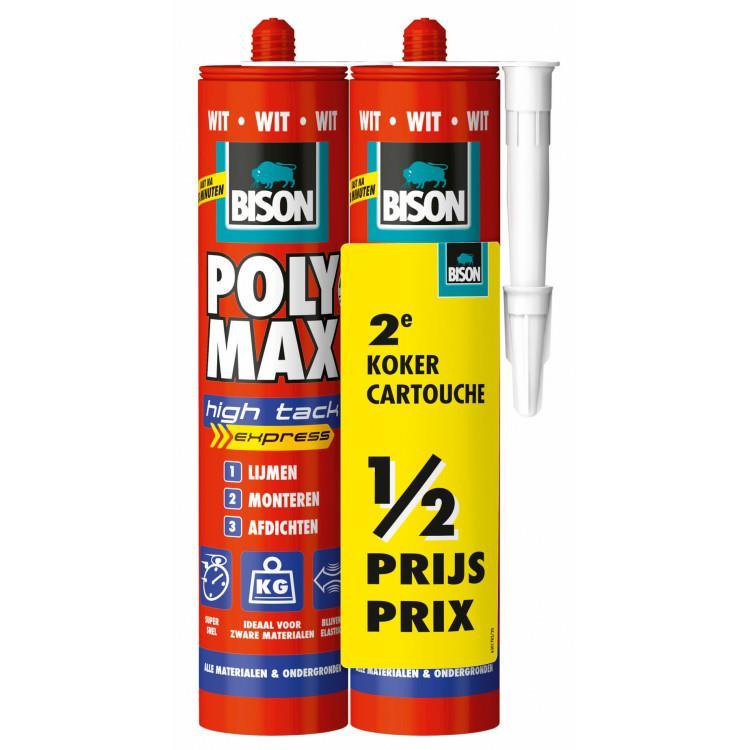 BISON PolyMax High Tack WIT duo-pack 425 gr. 2 stuks