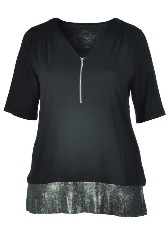 Via Appia Due shirt 647931 Zwart