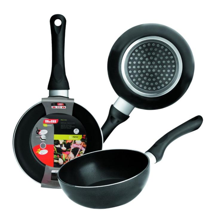 Ibili mini wok zwart - 16 cm