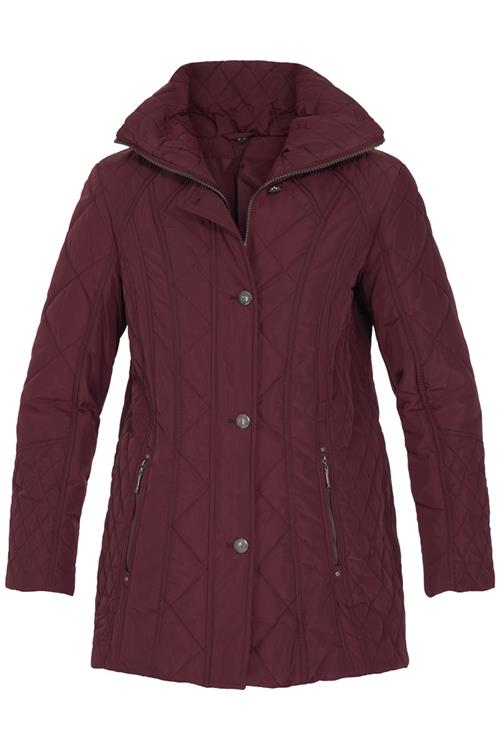 Witteveen mode jassen : Dames jas bordeaux quilt look witteveen mode