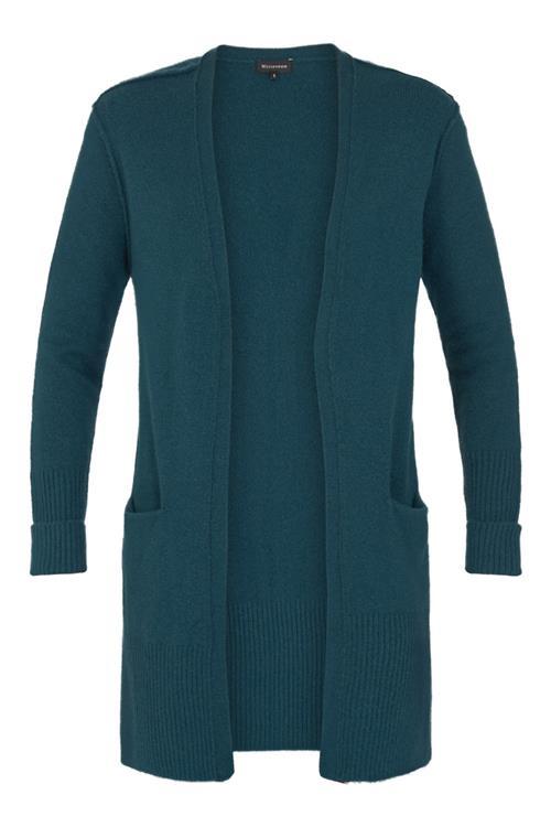 Witteveen Mode Jassen : Lang vest voor dames blauw petrol witteveen mode