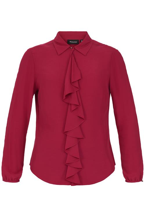 Blouse Volant Rood