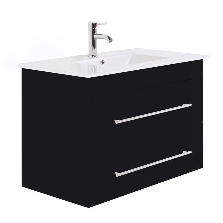 badkamermeubel tulsa 90 cm zwart gratis verzending