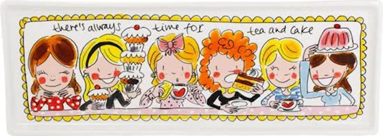 Blond Amsterdam Even Bijkletsen cakeschaal - 33 cm