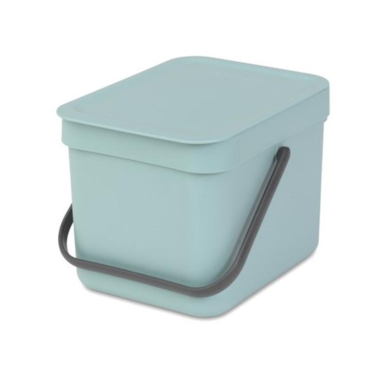 Brabantia Sort & Go afvalemmer 6 liter - mint