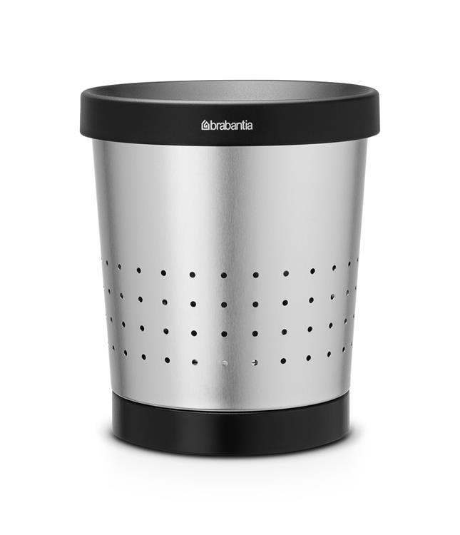 Brabantia Conische Prullenbak / Papierbak - 5 l. - Matt Steel