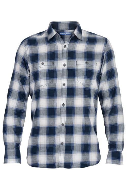Geblokt Overhemd.Heren Shirt Met Blokpatroon Blauw Miller Monroe