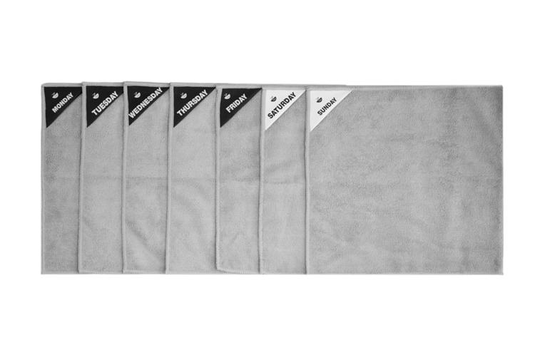 Klud Microvezel Vaatdoekjes set van 7 - Grijs