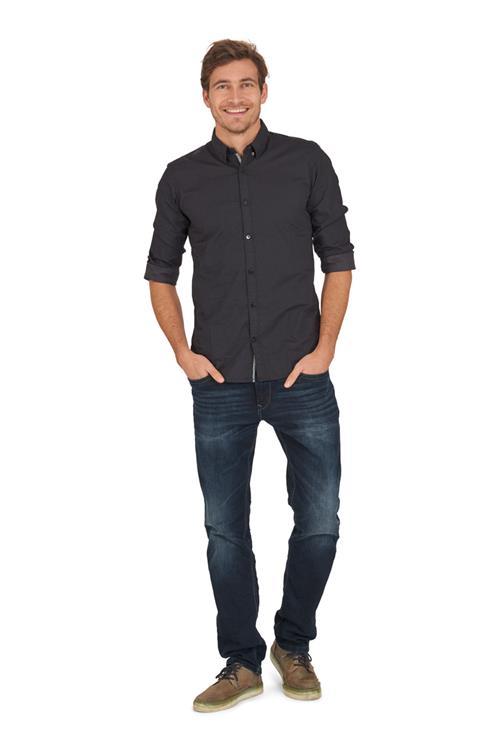 tom tailor casual overhemd zwart miller monroe. Black Bedroom Furniture Sets. Home Design Ideas