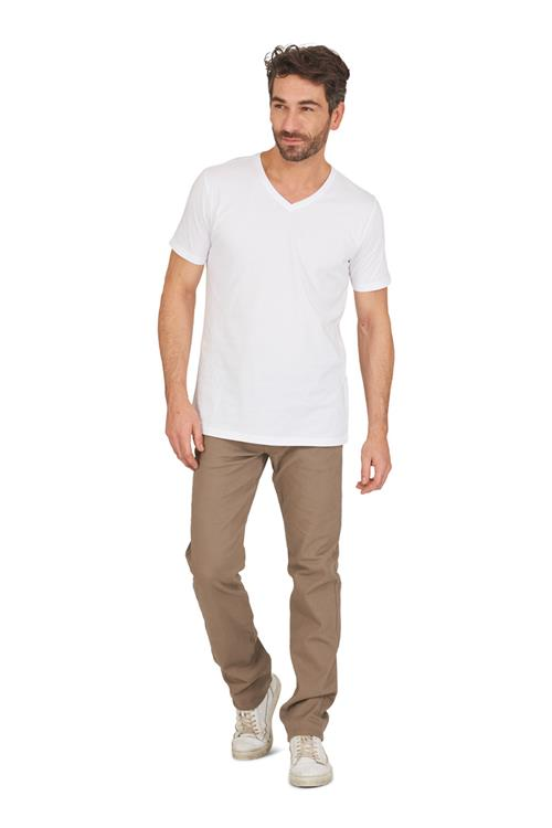 T-shirt Basic V-hals 2-pack Wit