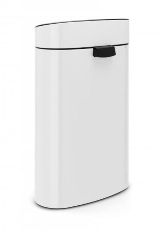 Brabantia Afvalbak 30 Liter.Brabantia Touch Bin Afvalemmer Wit 40 Ltr