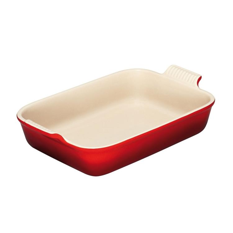 Le Creuset ovenschaal rechthoekig 31/26 cm - kersenrood