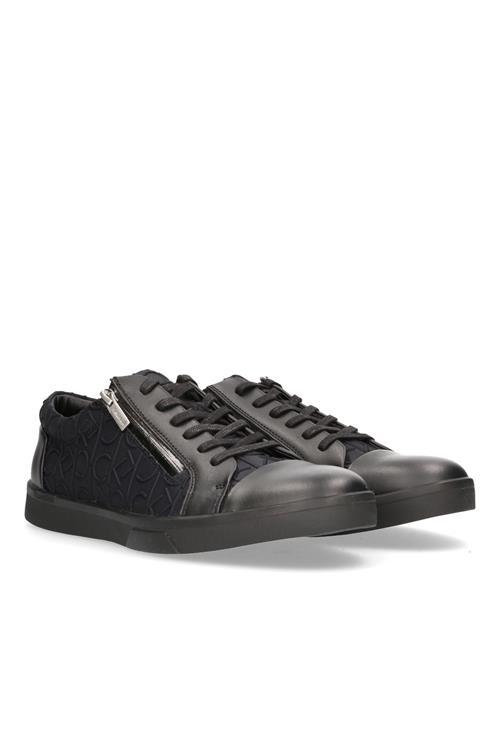 Ibrahim Sneaker Leer + Drogue hTu6W9