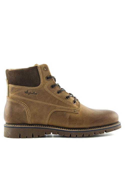 Afbeelding van Australian Footwear Combat boot leer Cognac