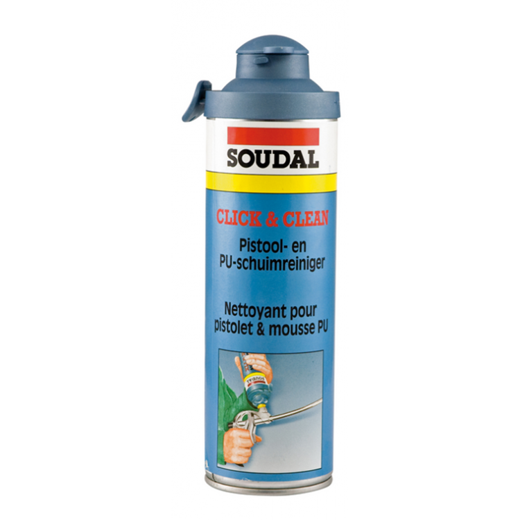SOUDAL Click & Fix pistool/ pur reiniger 500 ml.